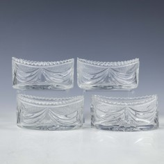 Four Cut Glass Open Table Salts c1910