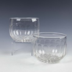 A Pair of Edwardian Cut Glass Fingers Bowls