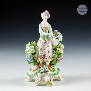 Bow Porcelain Figure Of A Flower Seller c1765
