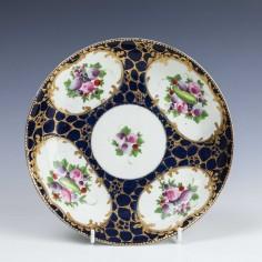 Rare Worcester Porcelain Saucer Dish With Caillouté Border c1780