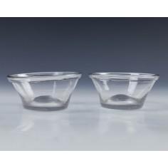 Pair Georgian Glass Patty Pans