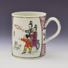 James Giles Worcester Mandarin Pattern Mug c1775