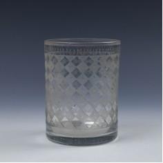 Engraved Bohemian Glass Tumbler c1830