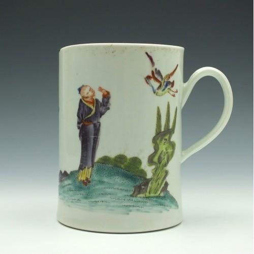 Worcester Porcelain Beckoning Chinaman Pattern Mug c1755