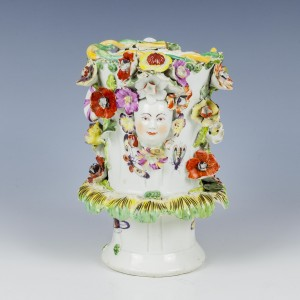 Bow Porcelain Frill Vase c1760