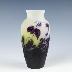 A Galle Ipomoea Cameo Vase c1900