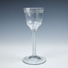 Georgian Double Series Air Twist Wine Glass c1750