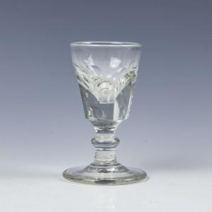 A Victorian Deceptive Dram Glass c1840