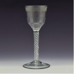 Georgian Double Series Air Twist Wine Glass c1750