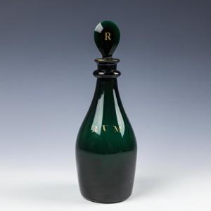 A Bristol Green Rum Decanter c1800