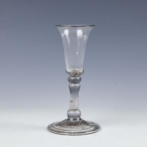A Fine Georgian Balustroid Gin Glass c1730