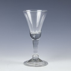 A Bell Bowl  Balustroid Wine Glass c1740