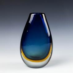 A Sommerso Glass Vase - Flavio Poli for Seguso