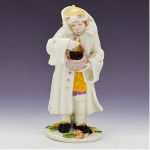 Chelsea Porcelain Red Anchor Period Figure of Winter c1754