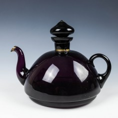 A Novelty Amethyst Glass Spririt Kettle Decanter