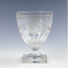 A Engraved Victorian Rummer c1840