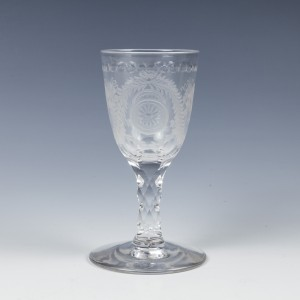 Bucrania Engraved Wine Glass c1780