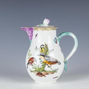Meissen Ornithological Porcelain Hot Water Jug c1765