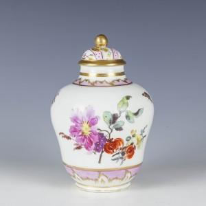 A Fine Early Berlin Porcelain Tea Canister c1770