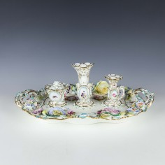 English Porcelain Inkstand c1835