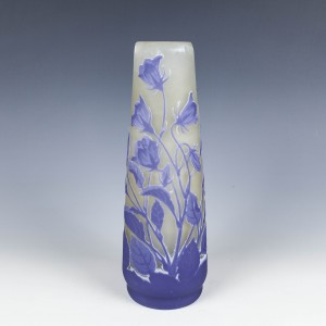 Galle Lisianthus Cameo Glass Vase c1907