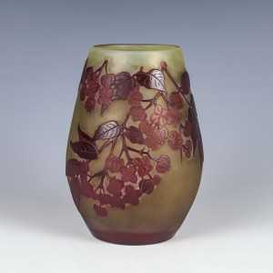 Galle Three Colour Cameo Cherry Blossom Vase c1900