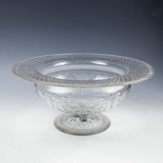 Pairpoint Buckingham Pattern Rock Crystal Glass Bowl c1925