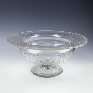Pairpoint Buckingham Pattern Rock Crystal Glass Bowl c1925