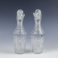 Pair Liqueur or Spirit Decanters c1850