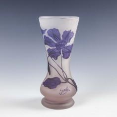 Galle Cameo Clematis Vase c.1900