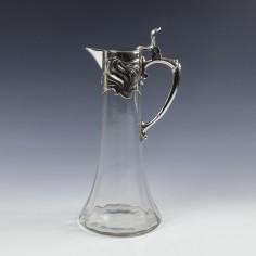 A WMF Art Nouveau Claret Jug c1905