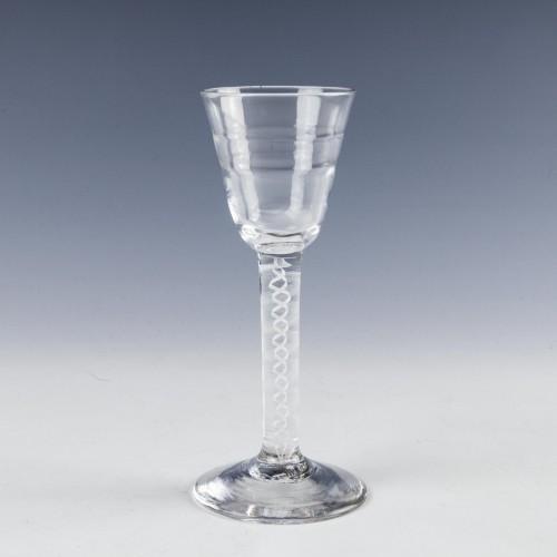Lynn Opaque Twist Wine Glass c1760
