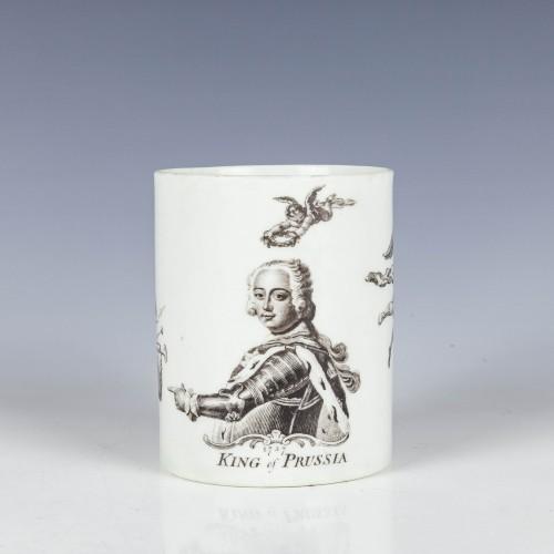 Worcester Porcelain King of Prussia Mug dated 1757