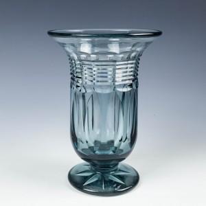Moser Cut Glass Vase c1930