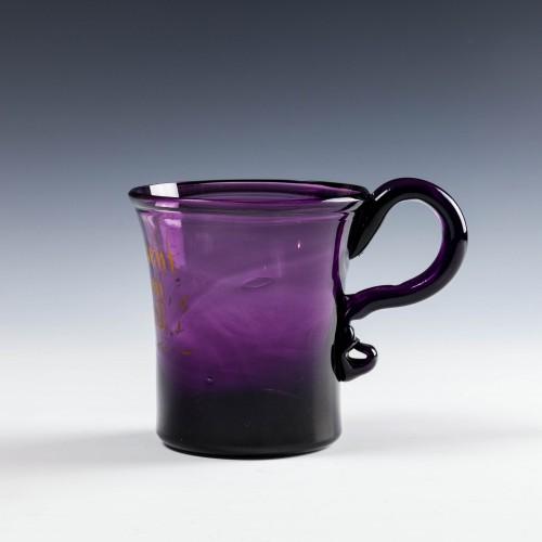 Amethyst Glass Grog Mug c1800