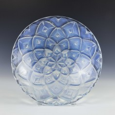 French Opalescent Geometric Design Bowl c1930