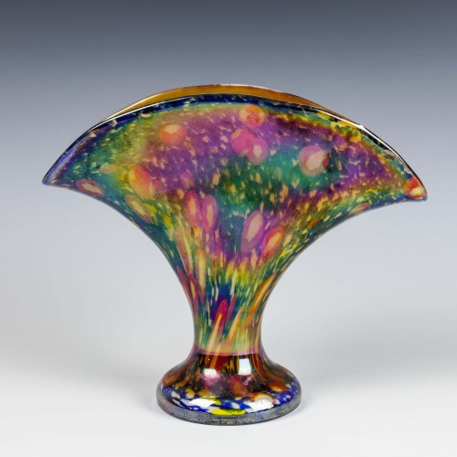 Kralik Murrina Millefiori Fan Vase c1930