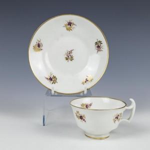 Swansea Porcelain Teacup and Saucer c1815