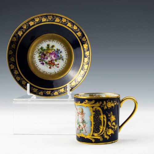 Louis Philipe Sevres Porcelain Coffee Can and Saucer 1846