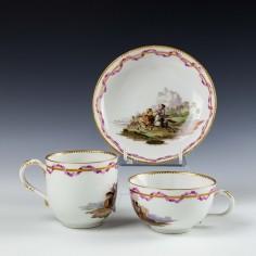 Meissen Porcelain Marcolini Period Trio c1800