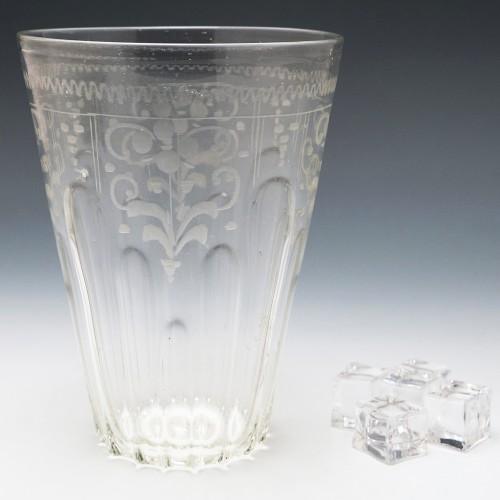 An Engraved Bohemian Ice Bucket c1800