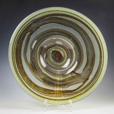 Signed Michael Harris Isle of Wight Tortoiseshell Glass Charger
