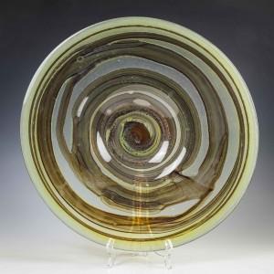 Signed Michael Harris Isle of Wight Tortoiseshell Glass Charger