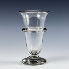 Andrew A Georgian Jelly Glass with Applied Glass Band c1820