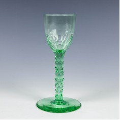Pomona Green Wine Glass c1890