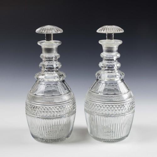 Pair Cut Georgian Prussian Decanters c1825