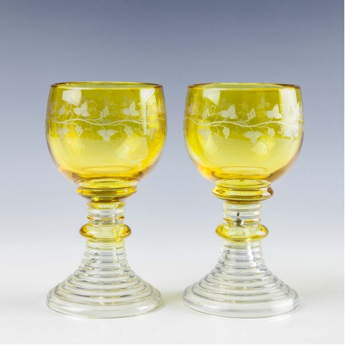 A Pair Of Roemer Style Wine Glasses