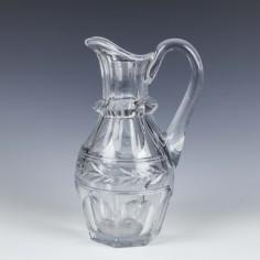 Engraved Victorian Glass Jug c1870