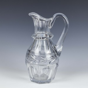 Engraved Victorian Glass Jug c1870