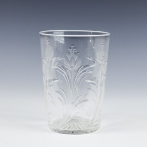 Rock Crystal Engraved Whisky Tumbler c1900